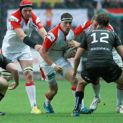 Rob Herring on the attack for Ulster