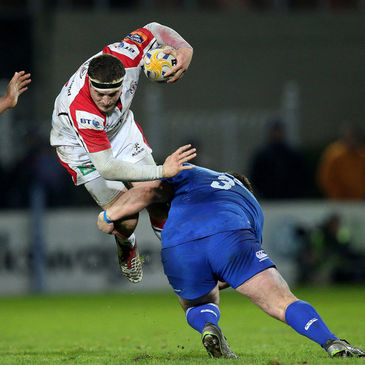 Rob Herring in action against Leinster