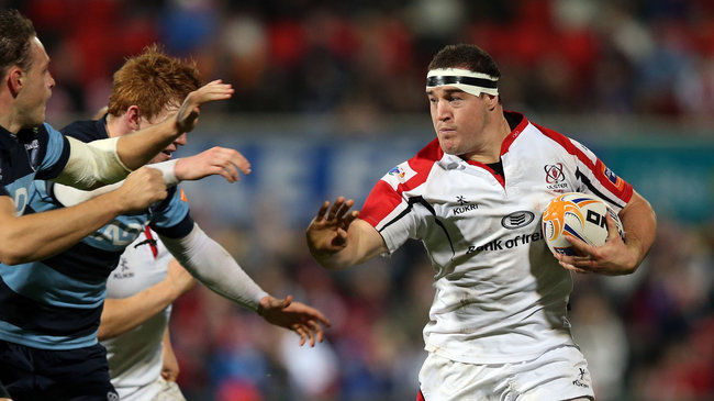 Hooker Rob Herring in action for Ulster