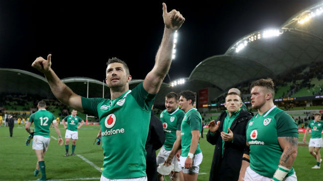 Ireland Down Under: Rob Kearney Salutes Irish Fans In Melbourne