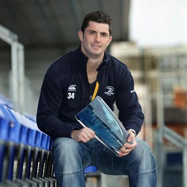 Rob Kearney with his award at Donnybrook