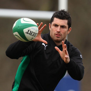 Rob Kearney training with the Ireland squad