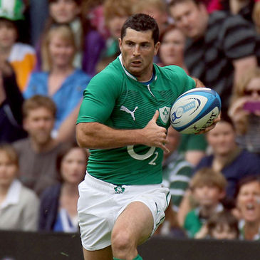 Rob Kearney in action for Ireland at Murrayfield
