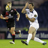 Rob Kearney spins a pass out as Leinster look to launch a counter attack at the home of Scottish rugby