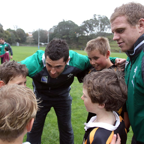 Ireland Players' Coaching Clinic With Local Kids, New Plymouth Boys High School, New Plymouth, Friday, September 9, 2011