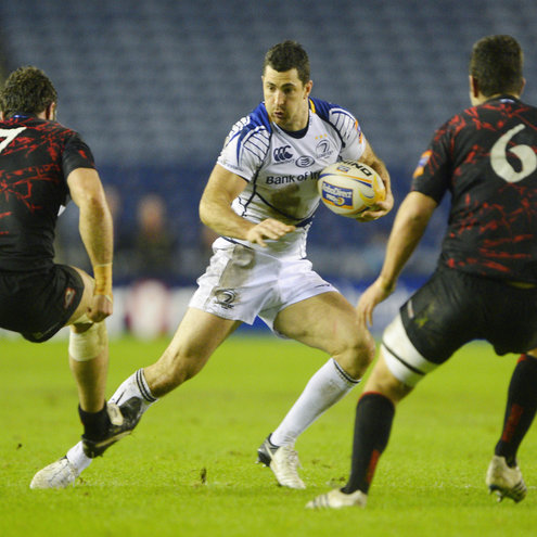 Leinster's Rob Kearney in action against Edinburgh