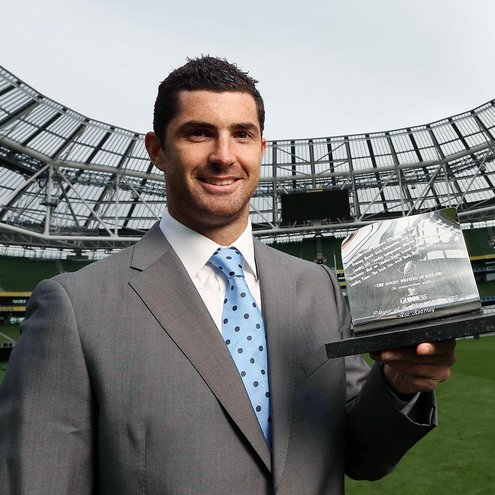 Rob Kearney with his GUINNESS Rugby Writers award
