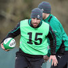 Leinster full-back Rob Kearney was training on the day it was confirmed that he has signed a new two-year IRFU contract