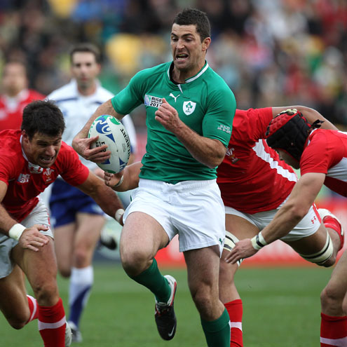 Photos of Ireland's World Cup quarter-final clash with Wales