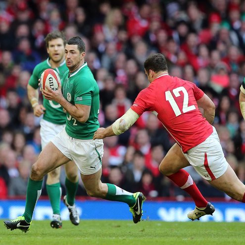 Rob Kearney in action against Wales