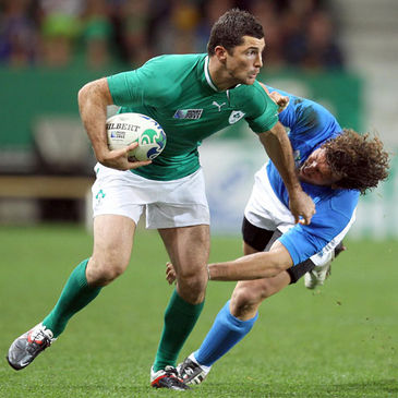 Ireland's Rob Kearney in action against Italy