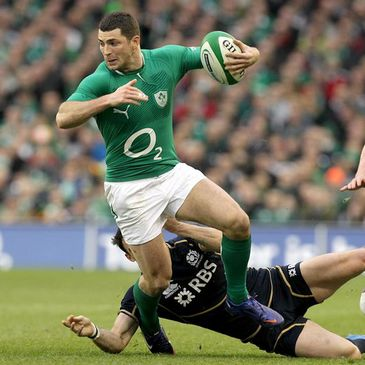 Rob Kearney in action against Scotland