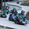 Tom Court, Brian O'Driscoll and Rob Kearney took each other on at the Skyline Luge. The squad's trip there was courtesy of the local Queenstown Council