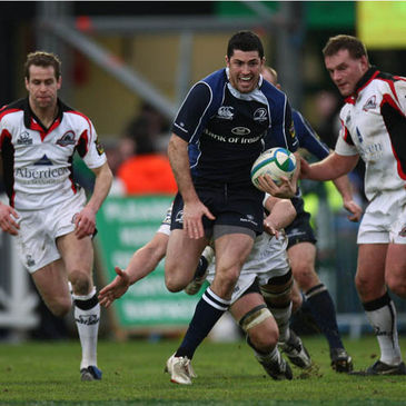 Leinster's man-of-the-match Rob Kearney makes a break