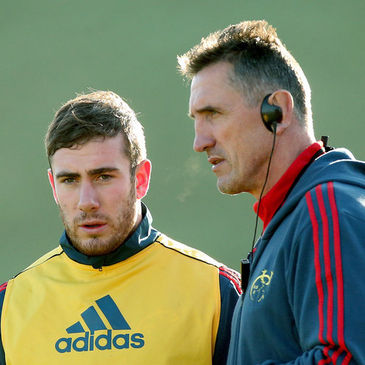 Rob Penney chats with JJ Hanrahan at training