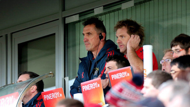 Munster coaches Rob Penney and Simon Mannix