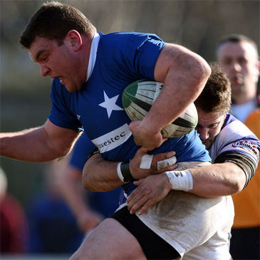 St. Mary's College prop Rob Sweeney makes the hard yards