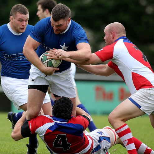 Prop Rob Sweeney carries the ball forward for St. Mary's