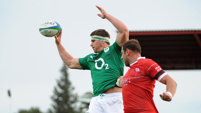 Robbie Diack in action for Emerging Ireland last summer