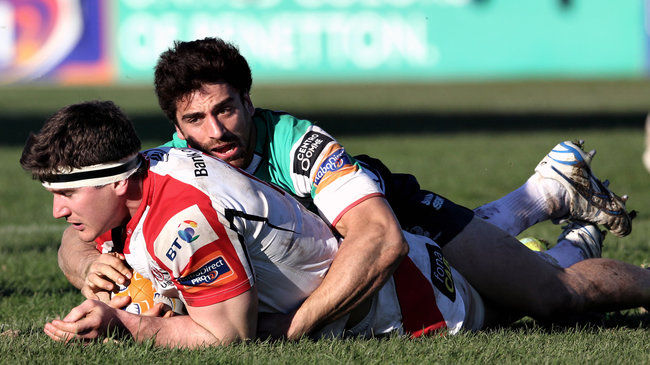 Robbie Diack scored Ulster's second try in Treviso