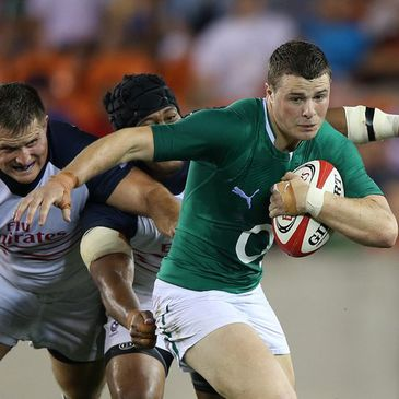 Robbie Henshaw in action against the USA