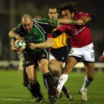 Robbie Morris in action against Brive