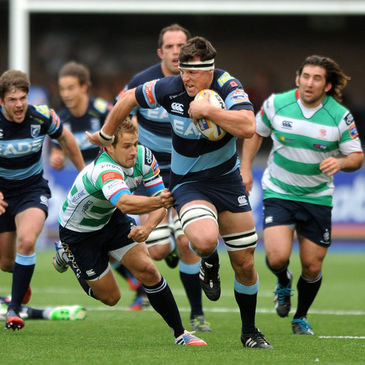 Robin Copeland in action for Cardiff Blues