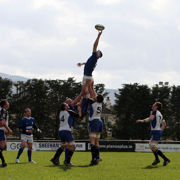 Robin Copeland wins a lineout for St. Mary's
