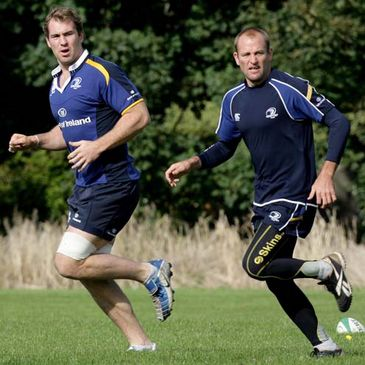 Leinster's Australian duo Rocky Elsom and Chris Whitaker