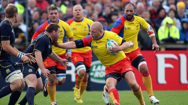 Romania played Scotland at the 2011 Rugby World Cup in New Zealand