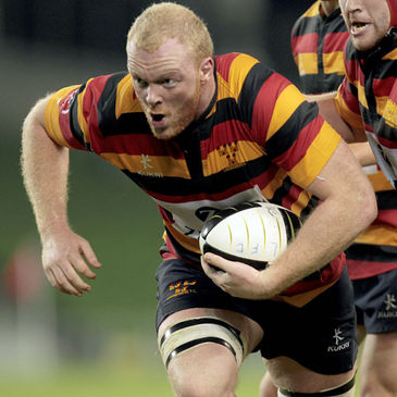 Ron Boucher scored a hat-trick of tries for Lansdowne