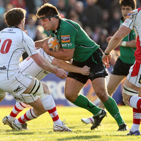 Ronan Loughney in action for Connacht