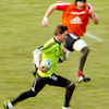 Ronan O'Gara, who is closing in on 100 Heineken Cup caps, is pictured on the run during Thursday's session at Cork IT