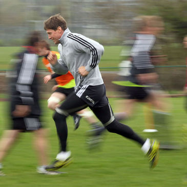 Ronan O'Gara trains with the Munster squad