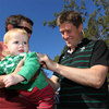 Ireland's record points scorer Ronan O'Gara was a popular figure, welcoming a steady flow of autograph hunters