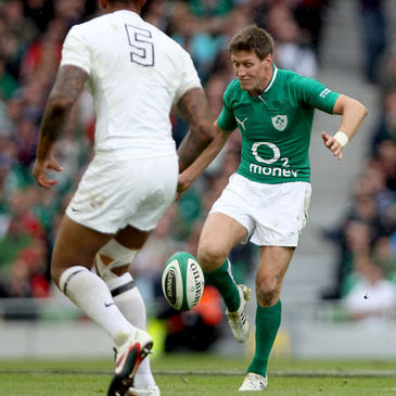 Ronan O'Gara in action against England