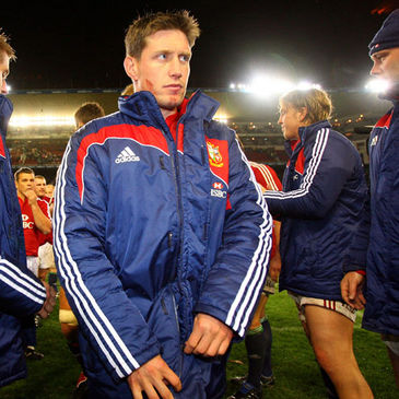 Ronan O'Gara leads the Lions off at Newlands