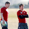 Ronan O'Gara and Eoin Reddan are both pushing for selection in the Ireland team to face the USA in Sunday's Pool C opener