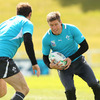 Ronan O'Gara is pictured advancing towards Geordan Murphy during the session in Taupo. O'Gara's Irish points scoring record now stands at 1039 points