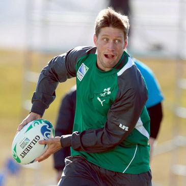 Ronan O'Gara training with the Ireland squad