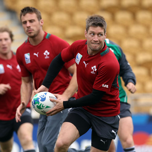 Photos of the Ireland players training at Stadium Taranaki