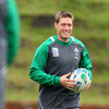 A smiling Ronan O'Gara has been named at out-half for Ireland's quarter-final duel with Wales. He has a played 12, won 8 and lost 4 record against the Welsh
