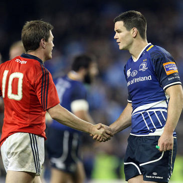 Out-halves Ronan O'Gara and Jonathan Sexton