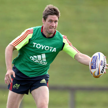 Ronan O'Gara training with the Munster squad
