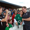 Ronan O'Gara was pleased to meet some fans from his native Cork after the training session in Queenstown