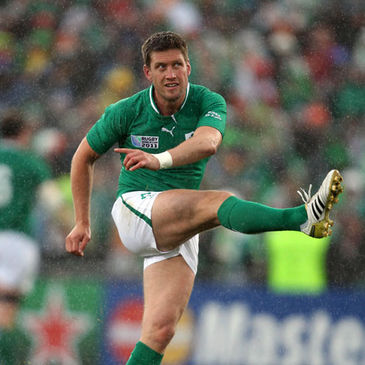 Ronan O'Gara will start at out-half for Ireland against Italy