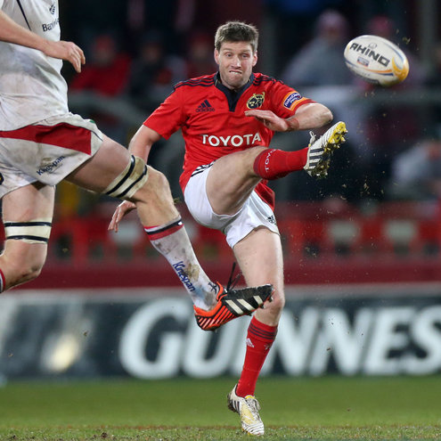 Munster out-half Ronan O'Gara