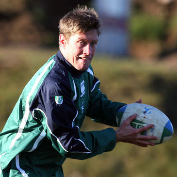 Ronan O'Gara in training