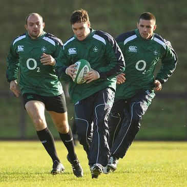 Rory Best, David Wallace and Alan Quinlan