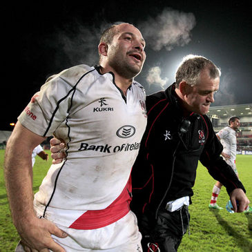 Ulster's Rory Best and Brian McLaughlin